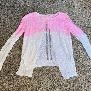 Mustard Seed Pink Ombré open (tulip) back sweater